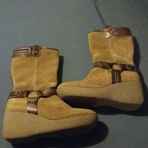 Cole Haan winter wedge boots 10b